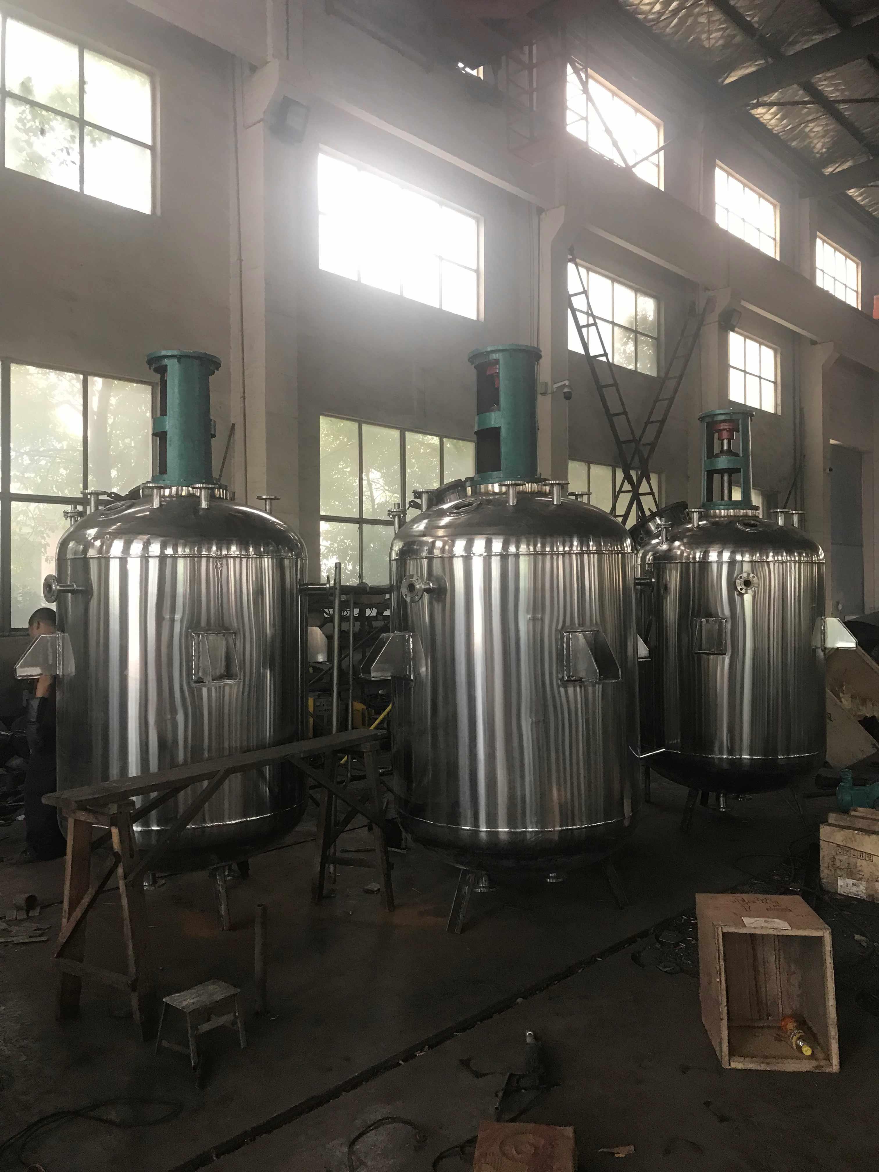不锈钢反应釜存放